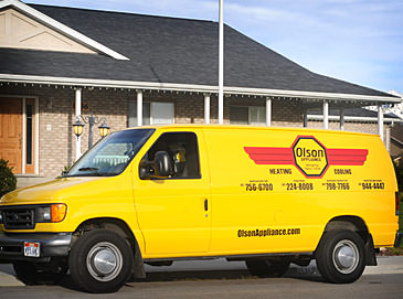 Olson Appliance service vehicle